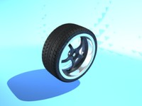 5 spoke alloy wheel 3d model