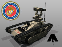 armed autonomous remote rover 3d model