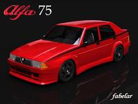 3d alfa romeo 75