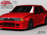 alfa romeo 75 3d model