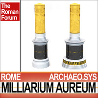 3ds max scientifically roman milliarium aureum