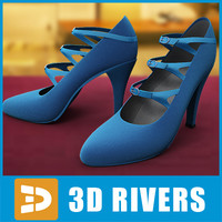 Blue high heels by 3DRivers