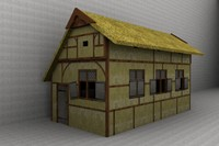 3d historical medieval house