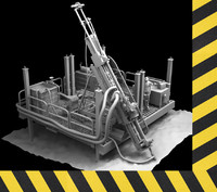 mining drill 3d model