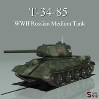 T-34-85 Soviet Tank