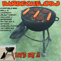 barbecue bbq grill 3d model