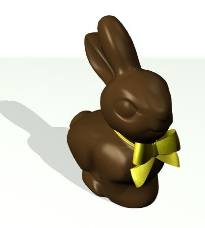 chocolate easter bunny 3d model - Chocolate Easter Bunny... by 3di2