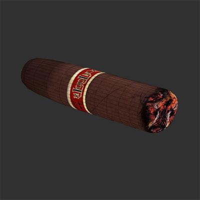 Cigars Burning Burning cigar obj