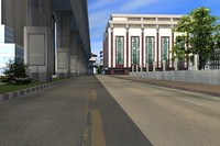 bangkok road street build city 3d max
