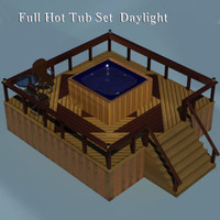 Deckwith patio set and Hot tub