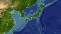 japan maps 3d model