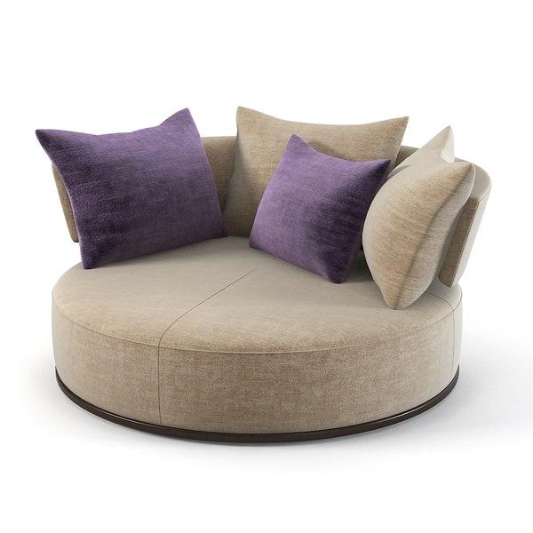 3ds max maxalto sofa rounfd. Black Bedroom Furniture Sets. Home Design Ideas