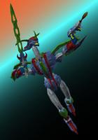 robot anime 3d obj
