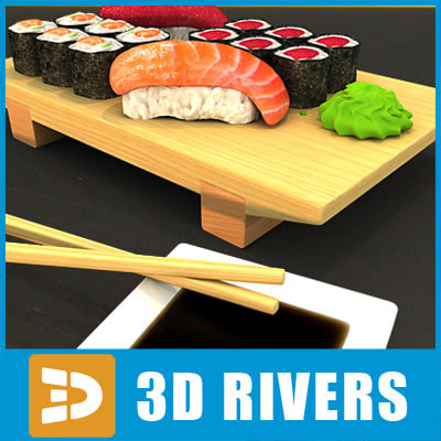 Sushi set by 3DRivers