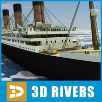 3d model titanic passenger ship