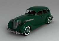 3d retro car zis 101a