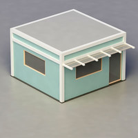 multi purpose building 3d 3ds