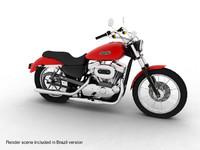 3d model brazil harley davidson xl883