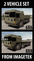 MAN SX 6X6 & 8X8 Military Extreme Mobility Truck System 2 Vehicle Set
