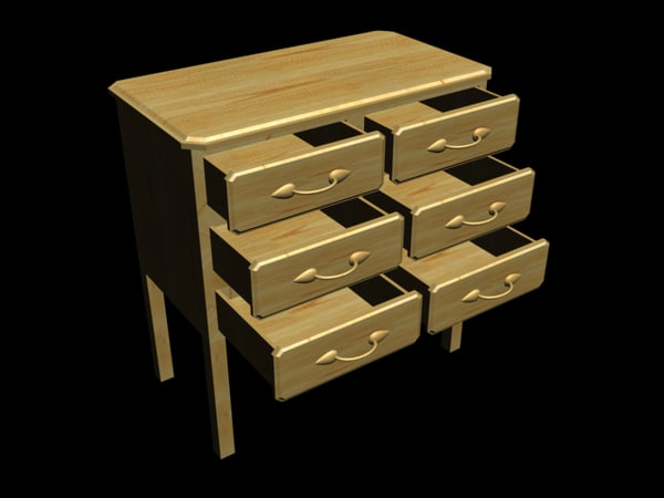 Pine chest of draws : double
