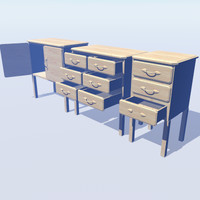 2 x Pine Draws and  1 Cupboard