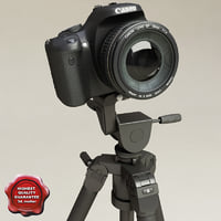 Canon EOS 450D and Tripod Slik Professional