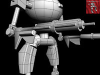 3d robot droid model