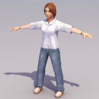 young female 3d model