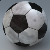 3d model of football ball realistic