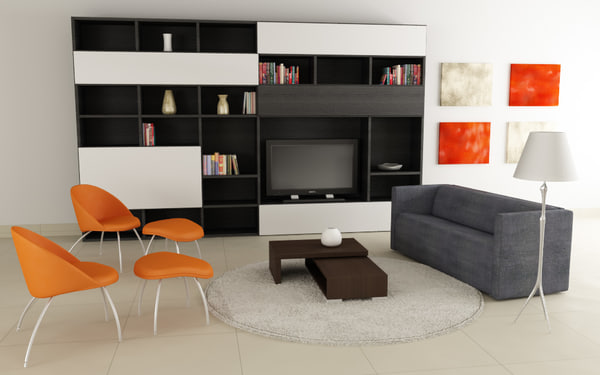 living room 04c 3d model - Living room 04C... by Digital Furniture