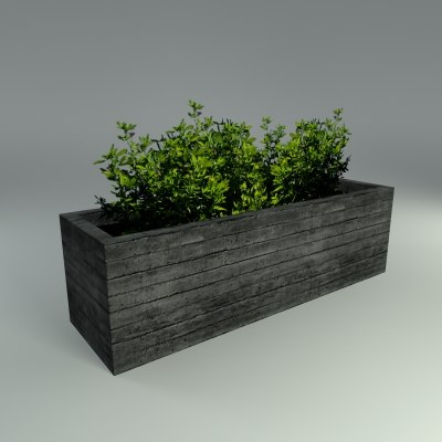 Concrete planter 3d model Concrete planters