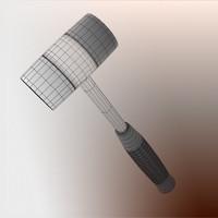 3d max plastic hammer