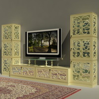 3d tv-stand tonincasa fabric