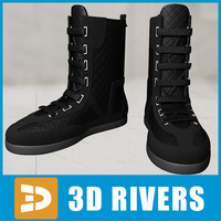 3d model sneakers shoes footwear