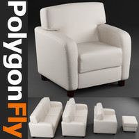 3d model of sofa set 14