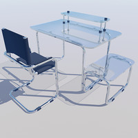 computer desk chair 3d model