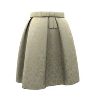 bow belt skirt 3d model