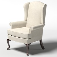 classic classical thomasville Bocelli Chair  wing chair armchair