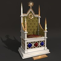 throne king 3d c4d
