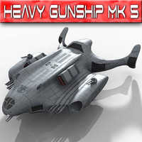 heavy gunship 3d model