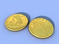 liberty coin.c4d