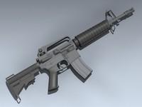 m4 commando 3d 3ds