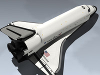 3d model space shuttle endeavour