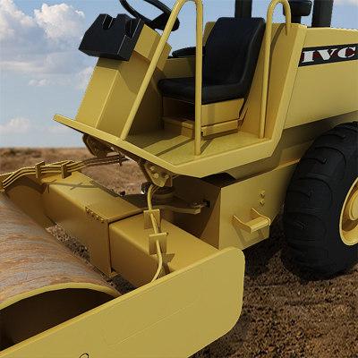 Vibratory soil compactor 3d model for Soil 3d model