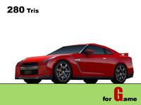 nissan gt-r cars 3d model