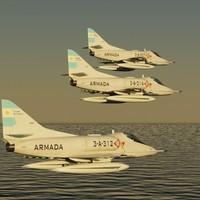 3d argentine navy a4-q model