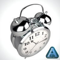 classic alarm clock 3d 3ds