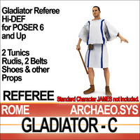 roman gladiator referee set 3ds