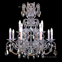 chandelier badari lighting b4-57 3d model
