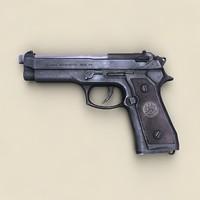 beretta 92 fs 3d model
